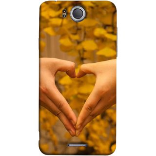 FUSON Designer Back Case Cover For InFocus M530 (Close Up Male And Female Hands Making Heart Shape)