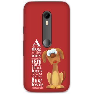 Moto G Turbo Designer Hard-Plastic Phone Cover from Print Opera -Dog
