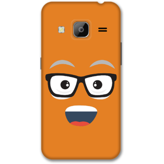 Samsung J3 2016 Designer Hard-Plastic Phone Cover from Print Opera -Nurdy face