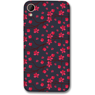 HTC 830 Designer Hard-Plastic Phone Cover from Print Opera -Pink flowers