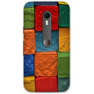 Moto G Turbo Designer Hard-Plastic Phone Cover from Print Opera -Colorful bricks