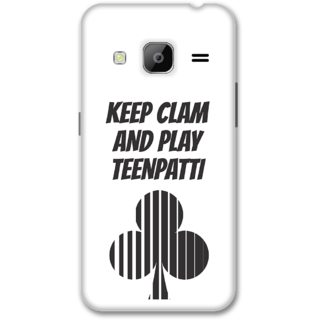Samsung J3 2016 Designer Hard-Plastic Phone Cover from Print Opera -Keep calm and paly teenpati