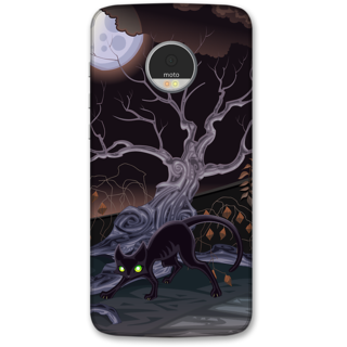 Moto Z Play Designer Hard-Plastic Phone Cover frI am taken Print Opera -Cat