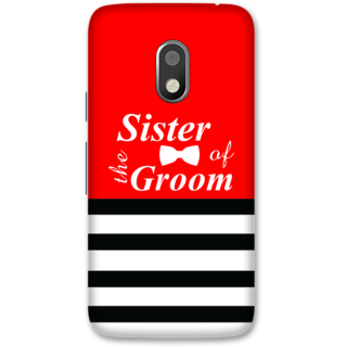 Moto G4 Play Designer Hard-Plastic Phone Cover from Print Opera -Sister of the groom