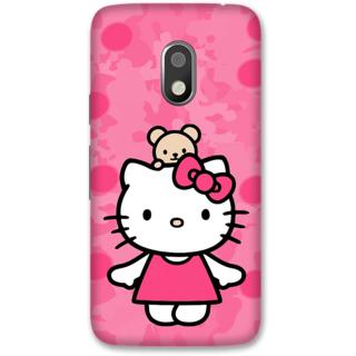 Moto G4 Play Designer Hard-Plastic Phone Cover from Print Opera -Hello kitty