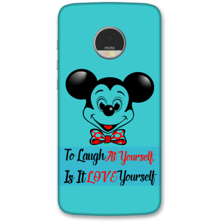 Moto Z Play Designer Hard-Plastic Phone Cover from Print Opera -Micky mouse