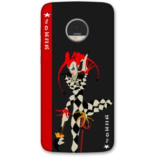 Moto Z Designer Hard-Plastic Phone Cover from Print Opera -Joker