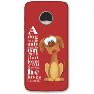 Moto Z Designer Hard-Plastic Phone Cover from Print Opera -Dog