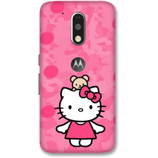 Moto G4 Plus Designer Hard-Plastic Phone Cover from Print Opera -Hello kitty