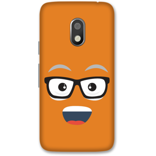 Moto G4 Play Designer Hard-Plastic Phone Cover from Print Opera -Nurdy face