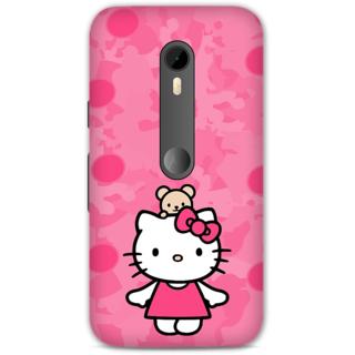 Moto G Turbo Designer Hard-Plastic Phone Cover from Print Opera -Hello kitty