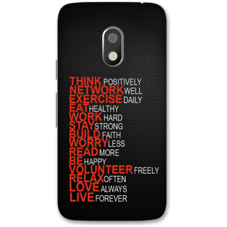 Moto G4 Play Designer Hard-Plastic Phone Cover from Print Opera -Always be positive