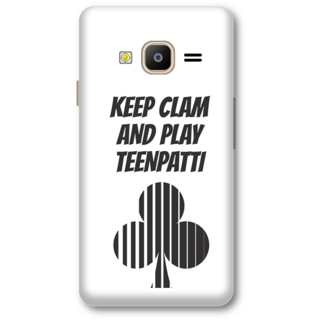 Samsung Z2 2016 Designer Hard-Plastic Phone Cover from Print Opera -Keep calm and paly teenpati