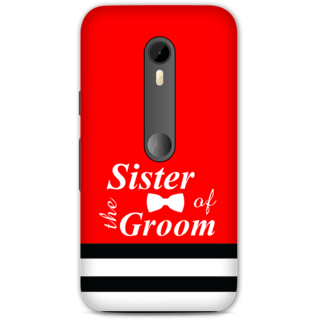 Moto G Turbo Designer Hard-Plastic Phone Cover from Print Opera -Sister of the groom