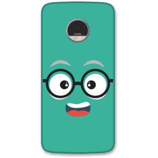 Moto Z Designer Hard-Plastic Phone Cover from Print Opera -Nurdy face