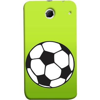FUSON Designer Back Case Cover For Lenovo K880 (Football Ground Ball Black White Fifa League )