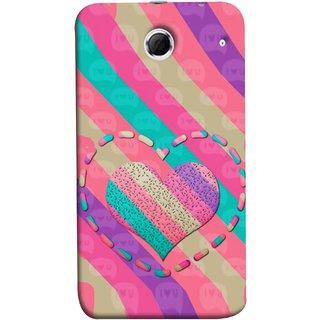 FUSON Designer Back Case Cover For Lenovo K880 (Hearts Love Lovely Strips Candy Cane Jellybean)