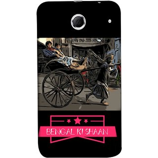 FUSON Designer Back Case Cover For Lenovo K880 (Man Pulling Hand Rickshaw On Road Kolkata Bengal)