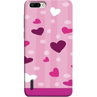 FUSON Designer Back Case Cover For Huawei Honor 6 Plus (Always I Love You Red Hearts Couples Together Valentine)