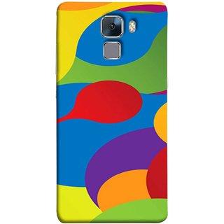 FUSON Designer Back Case Cover For Huawei Honor 7 :: Huawei Honor 7 (Enhanced Edition) :: Huawei Honor 7 Dual SIM (Gliding Mobile Wallpaper Floral Patterns Shining Dark Patterns)