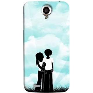 FUSON Designer Back Case Cover For Lenovo S820 (Boyfriend Girlfriend Together Always Evening Life)