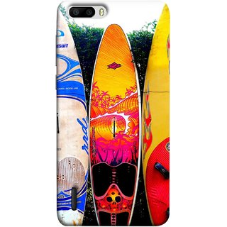 FUSON Designer Back Case Cover For Huawei Honor 6 Plus (In Garden Standing Nice Design Ocean Games )