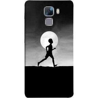 FUSON Designer Back Case Cover For Huawei Honor 7 :: Huawei Honor 7 (Enhanced Edition) :: Huawei Honor 7 Dual SIM (Halloween Vector Illustration Background Full Moon )