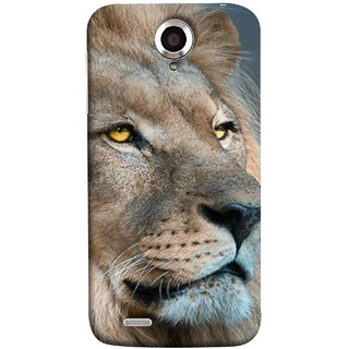 FUSON Designer Back Case Cover For Lenovo S820 (Jungle King Stearing Aslan Painting Oil Art )