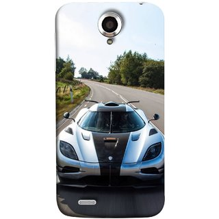 FUSON Designer Back Case Cover For Lenovo S820 (Clouds Beautiful Silver Sports Car Led American Cars)