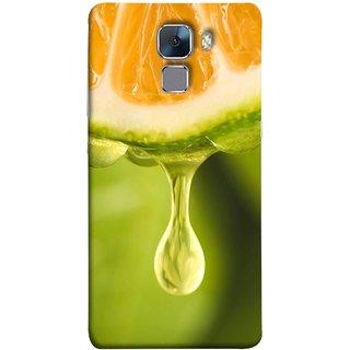 FUSON Designer Back Case Cover For Huawei Honor 7 :: Huawei Honor 7 (Enhanced Edition) :: Huawei Honor 7 Dual SIM (Orange Juice Dripping Slice Citrus Fruit Flesh)