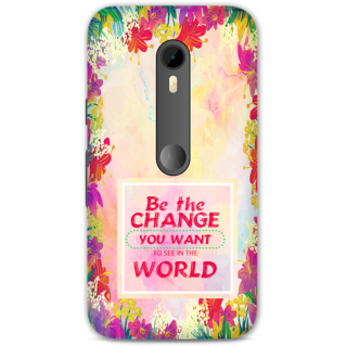 Moto G Turbo Designer Hard-Plastic Phone Cover from Print Opera -Be the change you want to see in the world