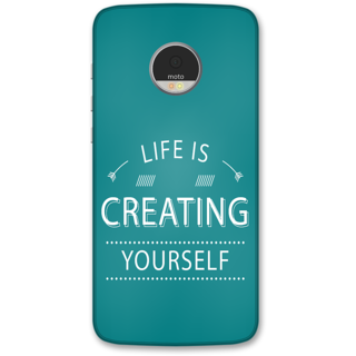Moto Z Play Designer Hard-Plastic Phone Cover from Print Opera -Life is creating yourself
