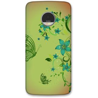 Moto Z Designer Hard-Plastic Phone Cover from Print Opera -Flowers