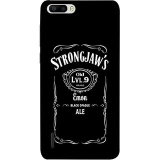 FUSON Designer Back Case Cover For Huawei Honor 6 Plus (Critical Role Drinks Level 9 Brand Emon Black Opaque )