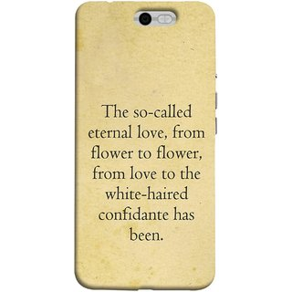 FUSON Designer Back Case Cover For InFocus M812 (From Love To White Haired Confidante Has Been)