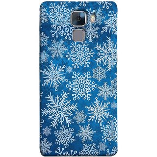 FUSON Designer Back Case Cover For Huawei Honor 7 :: Huawei Honor 7 (Enhanced Edition) :: Huawei Honor 7 Dual SIM (Different Size Winter Snow Enjoying Pattern World)