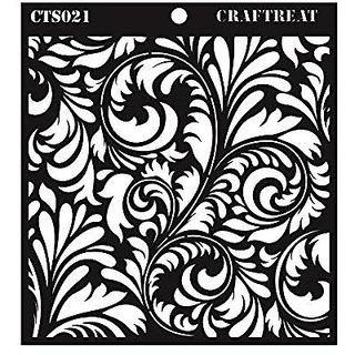 CrafTreat 6x6-inch Flourish Stencil (Black)