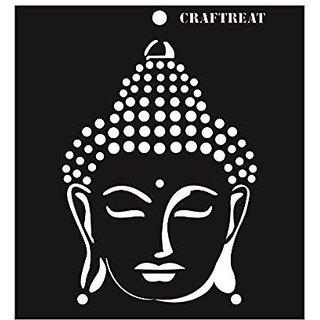 CrafTreat 6x6inch Buddha Stencil Black