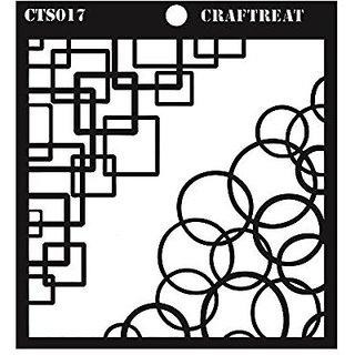 CrafTreat Retro Corner Stencil 6X6