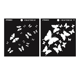 CrafTreat 2 Step Butterfly Stencil 6X6