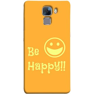 FUSON Designer Back Case Cover For Huawei Honor 7 :: Huawei Honor 7 (Enhanced Edition) :: Huawei Honor 7 Dual SIM (Big Smile Best Wallpapers Inspiration Quote)