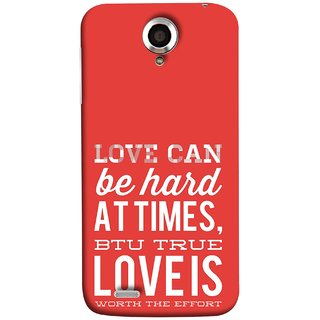 FUSON Designer Back Case Cover For Lenovo S820 (Love Is Worth The Effort Pure Lovers Hearts)