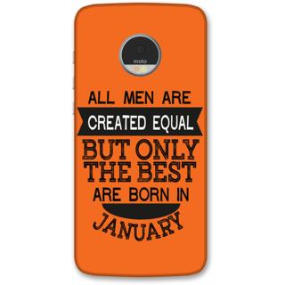 Moto Z Designer Hard-Plastic Phone Cover from Print Opera -Men born in january