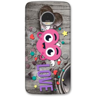 Moto Z Designer Hard-Plastic Phone Cover from Print Opera -Love