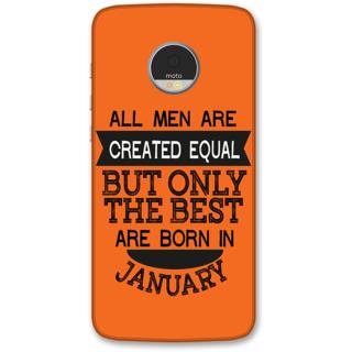 Moto Z Play Designer Hard-Plastic Phone Cover from Print Opera -Men born in january