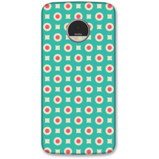 Moto Z Designer Hard-Plastic Phone Cover from Print Opera -Green doted texture