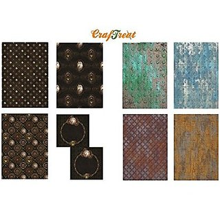 CrafTreat Decoupage A4 Paper Steam Punk amp Metal 8Pkg