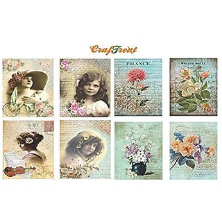 CrafTreat Decoupage A4 Paper Angels amp Flowers 8Pkg