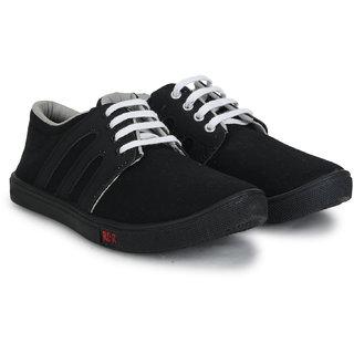 Treadfit Men's Black,White Lace-up Casual Shoes