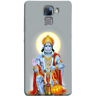 FUSON Designer Back Case Cover For Huawei Honor 7 :: Huawei Honor 7 (Enhanced Edition) :: Huawei Honor 7 Dual SIM (Hanuman Gadadhari Bajrangi Vayuputra Lord Chalisa)